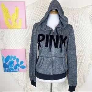 PINK Victoria Secret space grey full zip jacket M